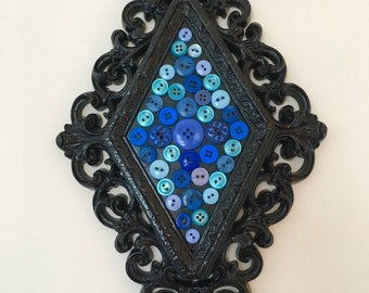 Blue Button Wall Hanging Decor