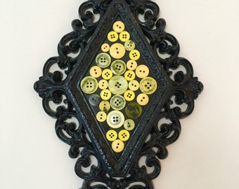Yellow Button Wall Hanging Decor