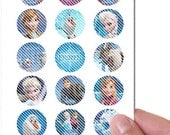 On Sale PreCut Edible Icing Frosted Image Mini Standard Cupcake Cookie Cake Lollipop Toppers Fairytale Frozen Princess Birthday Party Favors