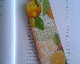 Lemon and Lime, Citrus Bookmark, Decoupage