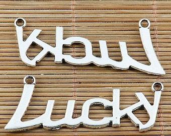 8pcs Tibetan silver word lucky connector EF2034