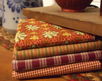 Homespun Fabric Bundle-Reds #1