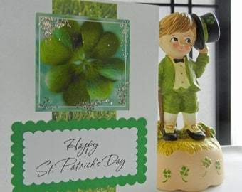 St. Patrick's Day Card (Handmade) St. Patty's Day Greeting