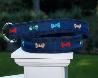 Bow Tie Belt for YOUNGER Boys / Bowtie Belt / Bowties / Southern Prep / Southern Style / Preppy Belt / Boys Pant Sizes Sizes 5/6 to 16/18