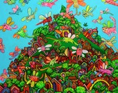 Euphoria on Kirry Cats Island :) Art print signed by artist 11/17
