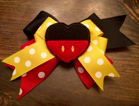 Mickey Pants bow