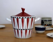 Rörstrand Picknick Marianne Westman Iconic Mid Century Scandinavian Rare Large Casserole Pot Collector's Item
