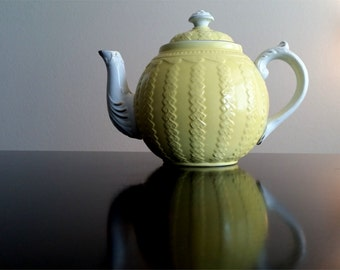 Ironstone China Warranted Yellow Teapot with Lid