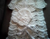 Beautiful cape and white hat for newborn.