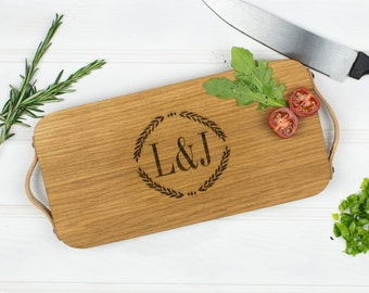 Personalised Chopping Board | Monogrammed Chopping Board | Wedding Gift | Oak Chopping Board | Wedding Anniversary Gift | 5 Year Anniversary