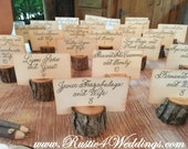 125 small rustic place card holders, tree card holders, place holders, rustic wedding decor, wood place card holder, rustic wedding supplies