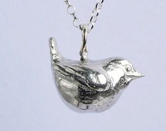 Wren Robin Bird Necklace UK Made Bird Gifts