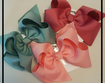 Medium hair bow- made to match Matilda Jane-4 inch hair bow- once upon a time--little girl's hair bows-medium hair bows-kids hair bows