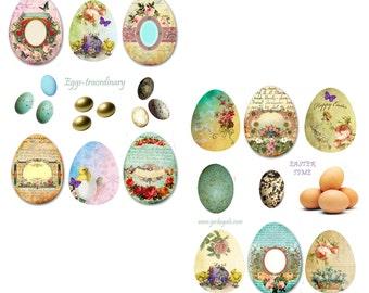 Eggstrodianary Digital Collage Set