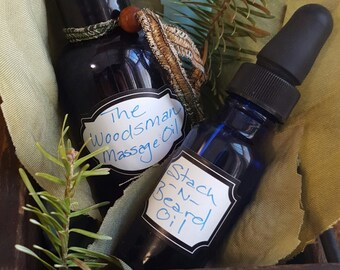 The Woodsman Massage and Beard Oil Valentine Package for Men