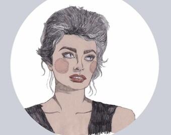 Sophia Loren Print