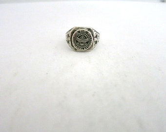 Vintage Class RIng Sterling Silver Ladies 1943 Millersville Training School