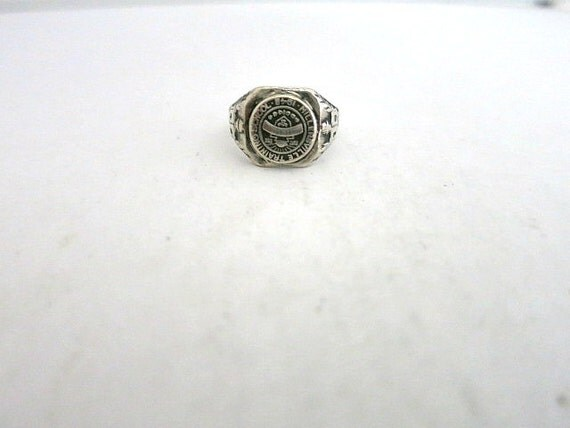 vintage class ring sterling silver 1943 millersville