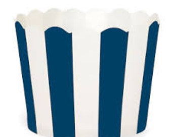 BAKING CUPS - Blue and White Stripe - Set of 25 : The Paper Doll