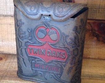 Twin Oaks Tobacco Tin