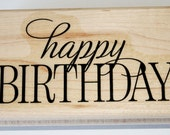 Happy Birthday Rubber Stamp retired from Stampin Up