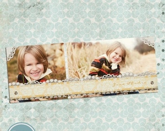 ON SALE INSTANT Download - Fall Timeline Cover Template, Photoshop Template