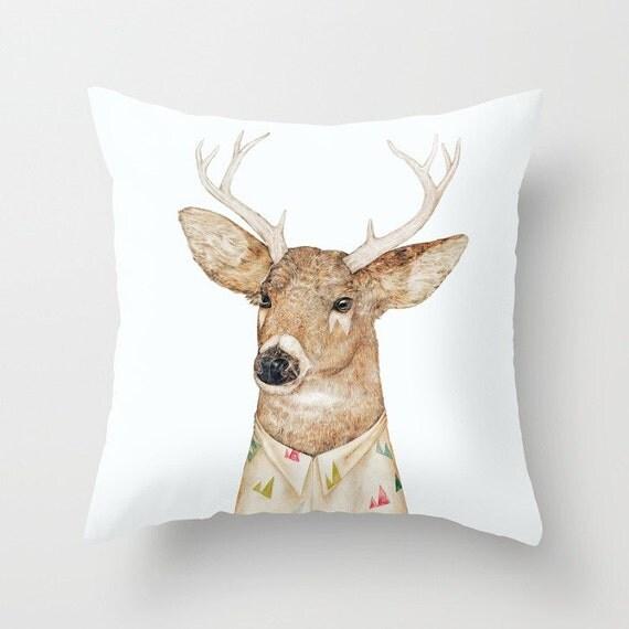 Deer THROW PILLOW Animal Decor Decorative Pillow