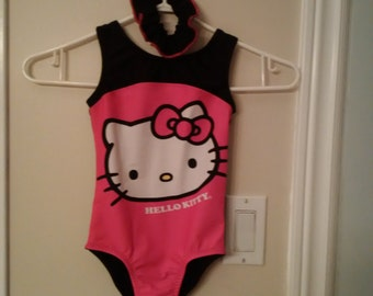 New Gymnastic Leotard - Pink Hello Kitty - Child Size 4, 5 & 6