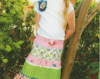 Notting Hill Skirt & T-Shirt Pattern for Sizes 12 mos to 12 years by Pink Fig Patterns (PFP25)