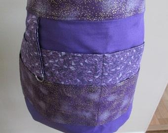 Purple Vendor Apron, Utility Apron, Half Apron