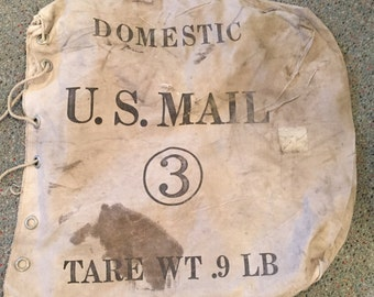 vintage us mail bag