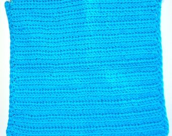 100% Cotton Hand Crochet Hot Blue Wash Cloth