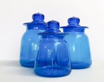 Vintage glass jars / canisters [sold separately]