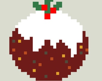Christmas Pudding Cross Stitch Pattern