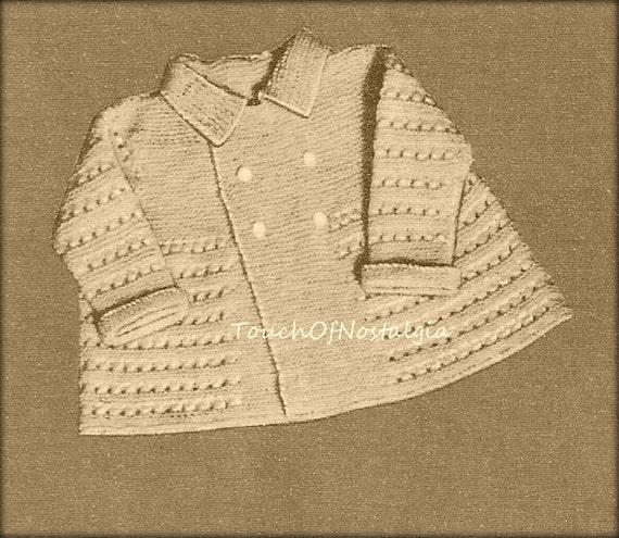 Boy Baby Christening LAYETTE Knitting Pattern LITTLE PRINCE LayetteSet w/ Mat...
