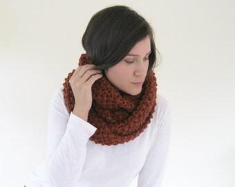 SALE Burnt Orange Scarf | Big Wool Scarf | Thick Scarf | Super Long Scarf | Chunky Wool Scarf | Warm Scarf