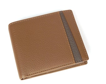 Leather Men Wallet brown