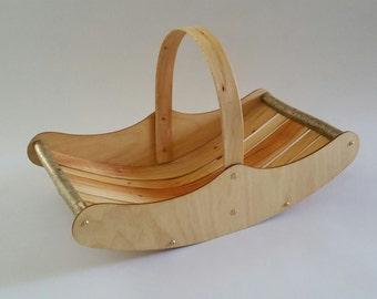 Welsh Market Trug, wooden basket, Hazel basket, willow basket, flower basket, wedding card basket, jam basket, wedding gift, wedding