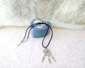 Dream Catcher Necklace / Black Leather / Men's Jewelry / women's jewelry / jewelry / teen Jewelry / kids / women / Native American
