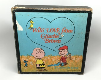 1st Edition Peanuts, Charles Schulz, With Love Charlie Brown Book Box Set, 6 Books, c1965-68