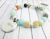 Keychain Bracelet, Wrist Keychain, Hope Keychain, Lanyard Bracelet, Wristlet Keychain, Bracelet Keychain, Gift for Her, Dove Keychain