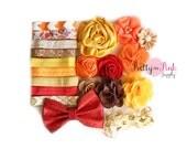 Boho Sweetheart DIY Headband Kit #167 - Baby Headbands, Baby Shower Station Headband Kit, Baby Girl Headband, Fall Baby Shower Idea