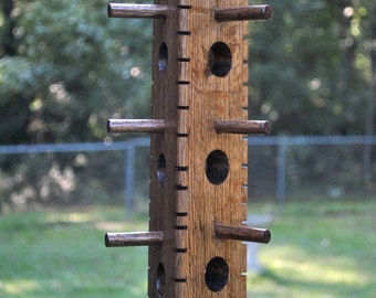 Suet bird feeder made from Red Oak, triangle