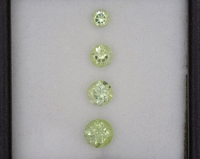 Beautiful Bright Green Amblygonite Gemstone Set from Brazil 1.20 tcw.