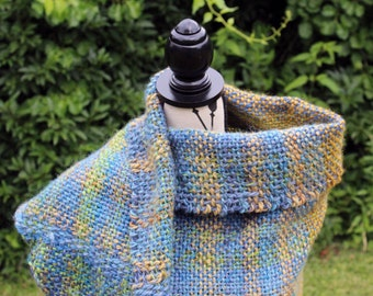 Blue, Green, and Gold Shawl