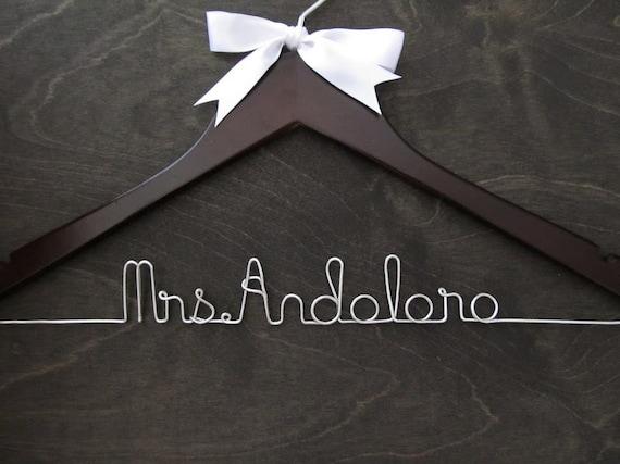 Wedding Hanger, Mrs Hanger, Wedding Hangers, Name Hanger, Bridal Hanger, Bridal Gift, Shower Gift