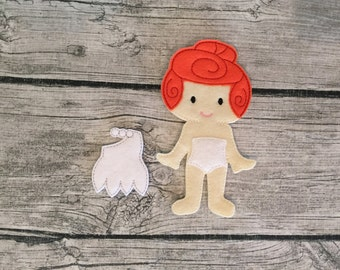 NonPaper Dolls Wilma Flintstone Inspired DOLL ONLY