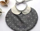 Christmas baby bib for girls with chiny colar