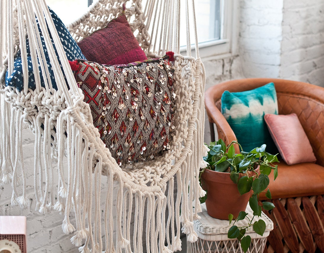 Hippy Hammock Macrame Chair