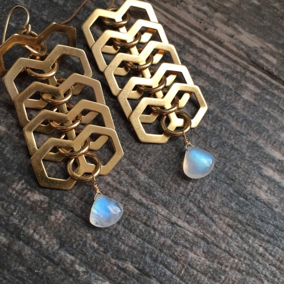 Studio 54 Moonstone Earrings
